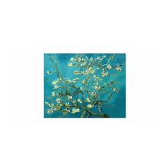 Blossoming Almond Tree Satin Wrap by MasterpiecesOfArt