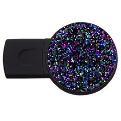 Glitter 1 Usb Flash Drive Round (4 Gb)  by MedusArt