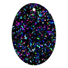Glitter 1 Oval Ornament (two Sides) by MedusArt