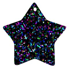 Glitter 1 Star Ornament (two Sides)  by MedusArt