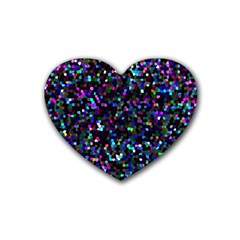 Glitter 1 Heart Coaster (4 Pack)
