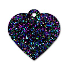 Glitter 1 Dog Tag Heart (two Sides) by MedusArt