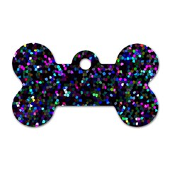 Glitter 1 Dog Tag Bone (one Side) by MedusArt