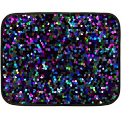 Glitter 1 Double Sided Fleece Blanket (mini)  by MedusArt