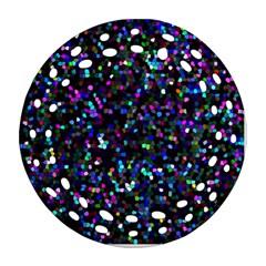 Glitter 1 Round Filigree Ornament (2side) by MedusArt