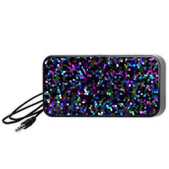 Glitter 1 Portable Speaker (black)  by MedusArt