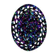 Glitter 1 Oval Filigree Ornament (2 Side)  by MedusArt
