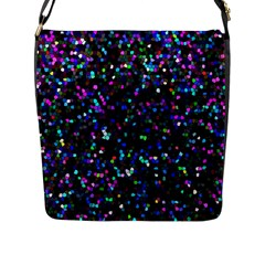 Glitter 1 Flap Messenger Bag (l)  by MedusArt