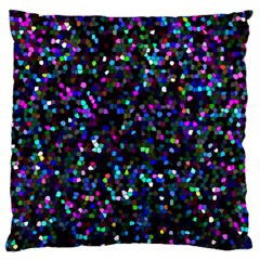 Glitter 1 Large Flano Cushion Cases (one Side)  by MedusArt