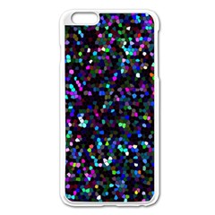 Glitter 1 Apple Iphone 6 Plus/6s Plus Enamel White Case by MedusArt