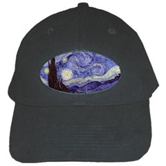 Van Gogh Starry Night Black Cap by MasterpiecesOfArt