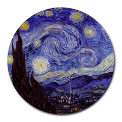 Van Gogh Starry Night Round Mousepads by MasterpiecesOfArt