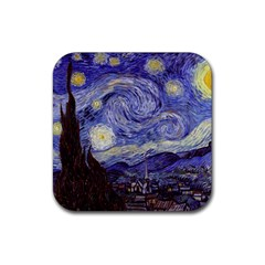 Van Gogh Starry Night Rubber Square Coaster (4 Pack)