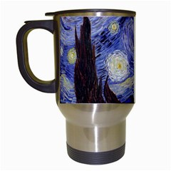 Van Gogh Starry Night Travel Mugs (white) by MasterpiecesOfArt