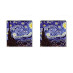 Van Gogh Starry Night Cufflinks (square) by MasterpiecesOfArt