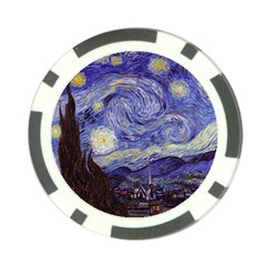 Van Gogh Starry Night Poker Chip Card Guards by MasterpiecesOfArt