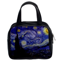 Van Gogh Starry Night Classic Handbags (2 Sides) by MasterpiecesOfArt