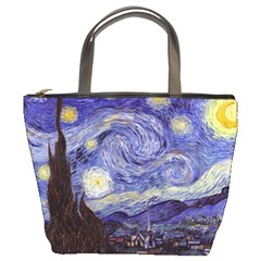Van Gogh Starry Night Bucket Bags by MasterpiecesOfArt