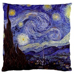 Van Gogh Starry Night Large Cushion Cases (two Sides)  by MasterpiecesOfArt