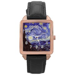 Van Gogh Starry Night Rose Gold Watches