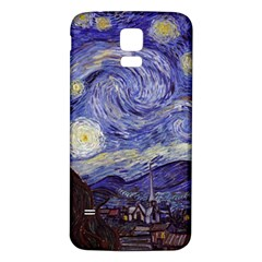 Van Gogh Starry Night Samsung Galaxy S5 Back Case (white) by MasterpiecesOfArt