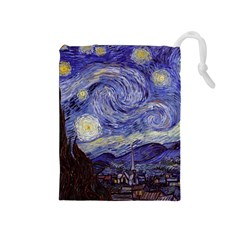 Van Gogh Starry Night Drawstring Pouches (medium)