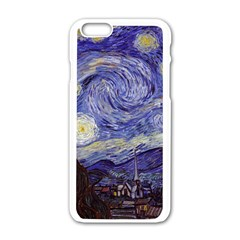 Van Gogh Starry Night Apple Iphone 6/6s White Enamel Case