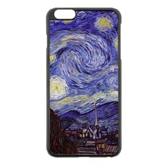 Van Gogh Starry Night Apple Iphone 6 Plus/6s Plus Black Enamel Case by MasterpiecesOfArt