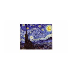 Van Gogh Starry Night Satin Wrap by MasterpiecesOfArt
