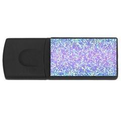 Glitter 2 Usb Flash Drive Rectangular (4 Gb)  by MedusArt