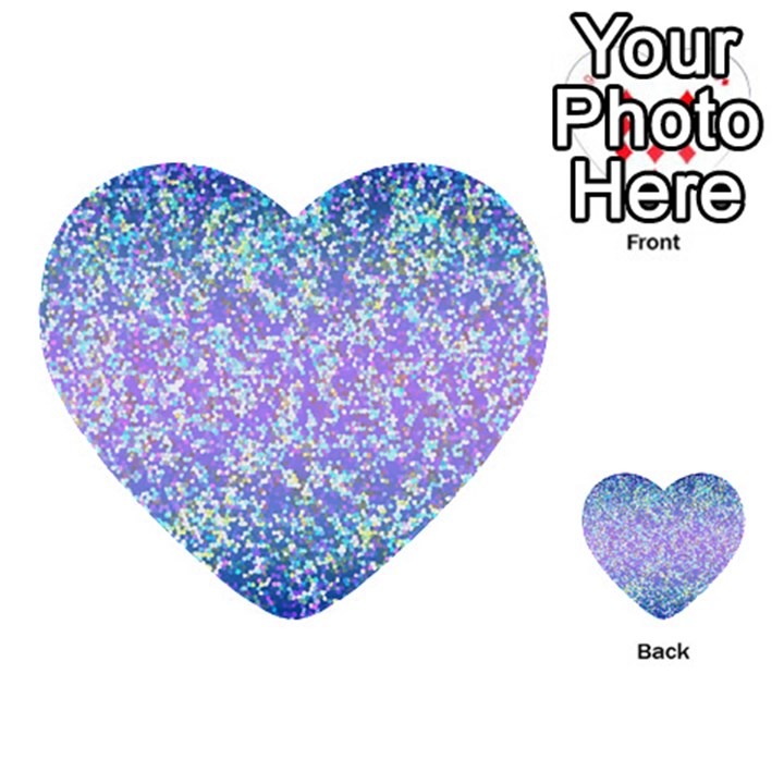 Glitter 2 Multi-purpose Cards (Heart)