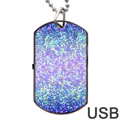 Glitter 2 Dog Tag Usb Flash (one Side) by MedusArt