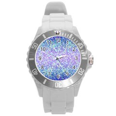 Glitter 2 Round Plastic Sport Watch (l) by MedusArt