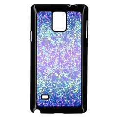 Glitter 2 Samsung Galaxy Note 4 Case (Black) by MedusArt