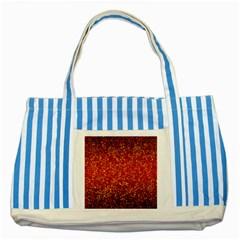 Glitter 3 Striped Blue Tote Bag  by MedusArt