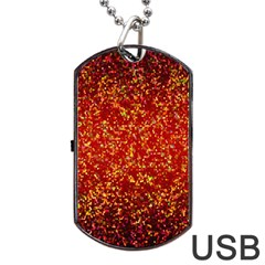 Glitter 3 Dog Tag Usb Flash (one Side) by MedusArt