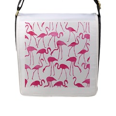 Pink Flamingos Pattern Flap Messenger Bag (l)  by Patterns