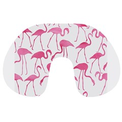 Pink Flamingos Pattern Travel Neck Pillows by Patterns