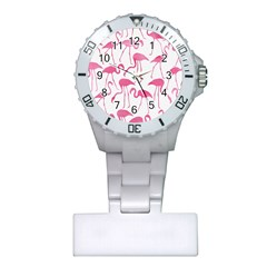 Pink Flamingos Pattern Nurses Watches by Patterns
