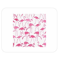 Pink Flamingos Pattern Double Sided Flano Blanket (medium)  by Patterns