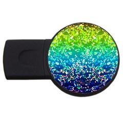 Glitter 4 Usb Flash Drive Round (4 Gb)  by MedusArt