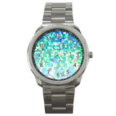Mosaic Sparkley 1 Sport Metal Watches by MedusArt
