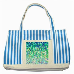 Mosaic Sparkley 1 Striped Blue Tote Bag  by MedusArt