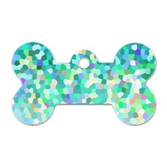 Mosaic Sparkley 1 Dog Tag Bone (two Sides) by MedusArt