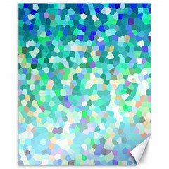 Mosaic Sparkley 1 Canvas 11  X 14   by MedusArt