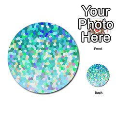 Mosaic Sparkley 1 Multi Purpose Cards (round)  by MedusArt