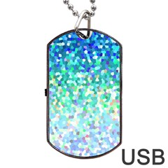 Mosaic Sparkley 1 Dog Tag Usb Flash (two Sides)  by MedusArt