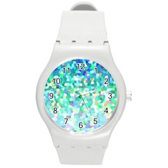 Mosaic Sparkley 1 Round Plastic Sport Watch (m) by MedusArt