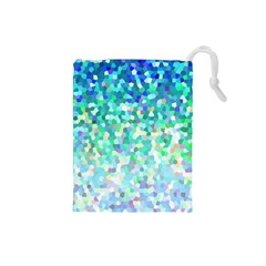 Mosaic Sparkley 1 Drawstring Pouches (small)  by MedusArt