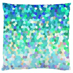 Mosaic Sparkley 1 Large Flano Cushion Cases (two Sides)  by MedusArt